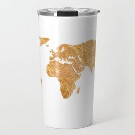 Gold World Travel Mug