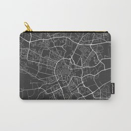 Krakow Map, Poland - Gray Carry-All Pouch