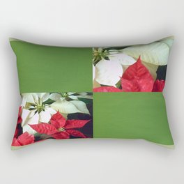 Mixed Color Poinsettias 2 Blank Q5F0 Rectangular Pillow