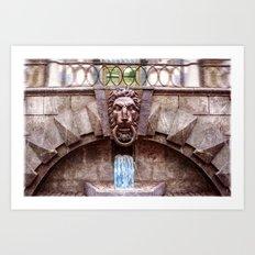 Weeping lion Art Print