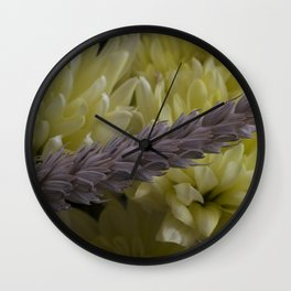Wild flowers Wall Clock
