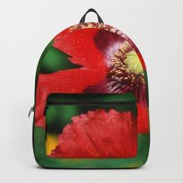 Red Flower Velvia  Backpack