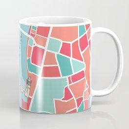 Prague Minimal Map Coffee Mug