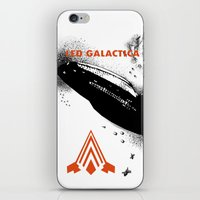 battlestar galactica iPhone & iPod Skins featuring LED GALACTICA by ClevaGurl
