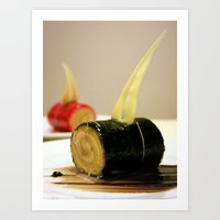 cake Art Prints featuring CAKE by habish