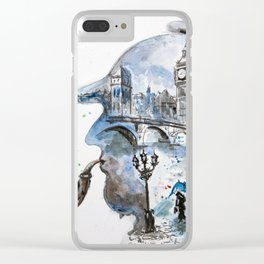 Mr. Sherlock Clear iPhone Case
