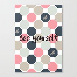 Bee yourself honeycomb Canvas Print