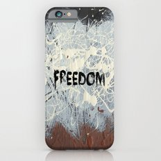Freedom Pollock Rothko Inspired Black White Red - Modern iPhone 6s Slim Case