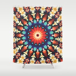 Colorful Mandala Motif Shower Curtain