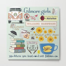 Gilmore Girls Collage Metal Print