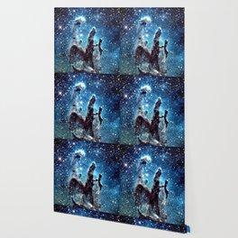 Pillars of Creation Nebula: Ocean Blue Galaxy Wallpaper