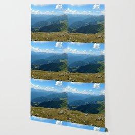 panorama on adventure park hög alps serfaus fiss ladis tyrol austria europe Wallpaper