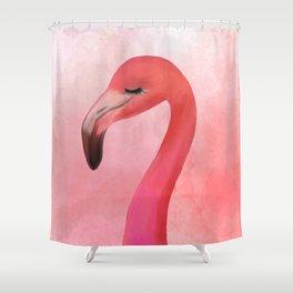 Lashy Flamingo by Katrina Ward Shower Curtain