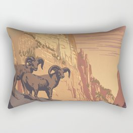 Zion National Park Dawn Rectangular Pillow