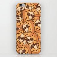 cookie iPhone & iPod Skins featuring Puglie Cookie by Puglie Pug