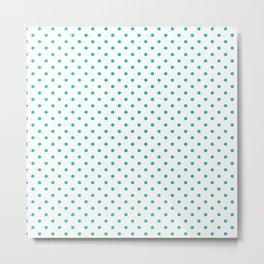 Dots (Tiffany Blue/White) Metal Print