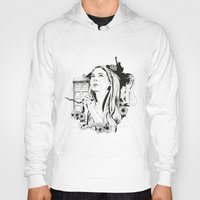 amy pond Hoodies featuring Come Along Pond by Fedi