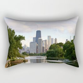 Chicago by River Rectangular Pillow