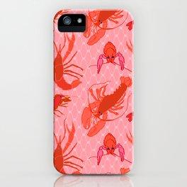 Catchin' Cajun Crawdads in Coral iPhone Case