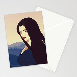 Girl Retro Style 10 Stationery Cards