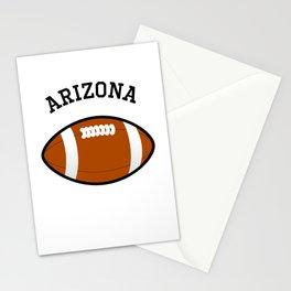 Arizona American Football Design black lettering Stationery Cards