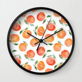 Watercolor oranges Wall Clock