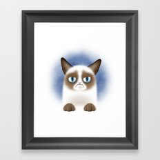 Nope (Grumpy Cat) Framed Art Print