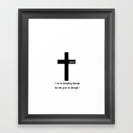 Philippians 4:13 Framed Art Print