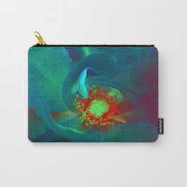 Blue Rose - Inverted Art Carry-All Pouch