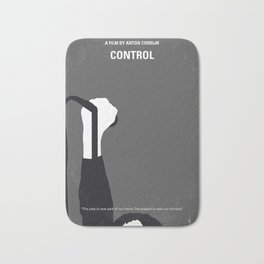 No508 My CONTROLE minimal movie poster Bath Mat