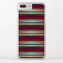 Parallel lines 3d pattern Clear iPhone Case