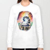 shell Long Sleeve T-shirts featuring Shell by Naushad Arts