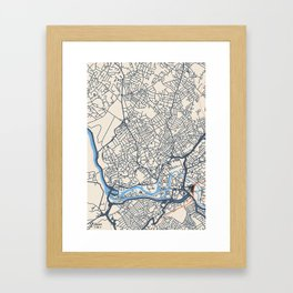 Bristol Map Framed Art Print