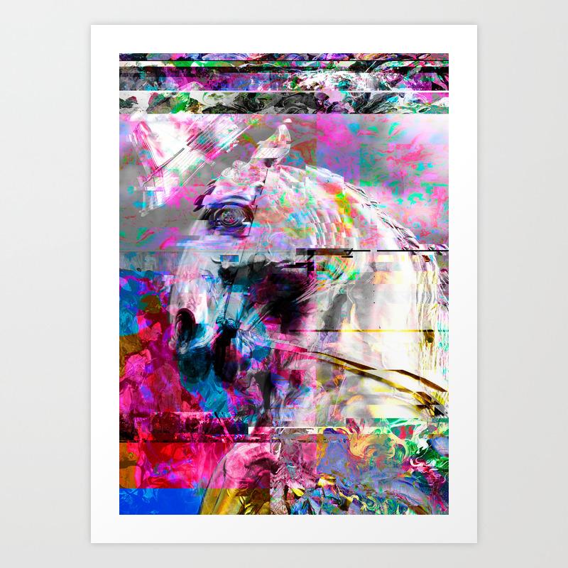 Golden Horse Art Print By Hyperkids Society6