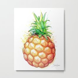 Fat Pineapple 1 Metal Print