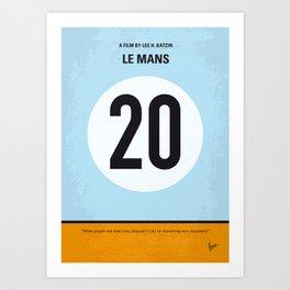 No038 My Le Mans minimal movie poster Art Print