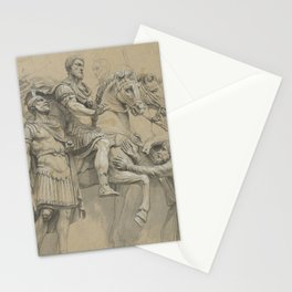 Vintage Marcus Aurelius on Horseback Illustration Stationery Cards