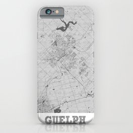 Guelph Pencil City Map iPhone Case