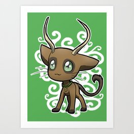 Zodiac Cats - Taurus Art Print