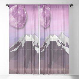 Night Mountains No. 18 Sheer Curtain