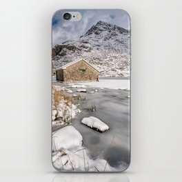 Frozen Lake Snowdonia iPhone Skin