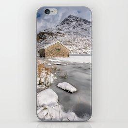 Frozen Lake Snowdonia iPhone Skin