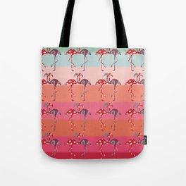 Ombre Pink Flamingos  Tote Bag