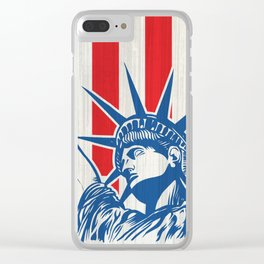 statue of liberty with torch Clear iPhone Case