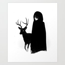 Absentia in white Art Print