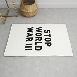 Stop World War III Rug