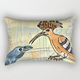 The Crow and the Hoopoe Rectangular Pillow