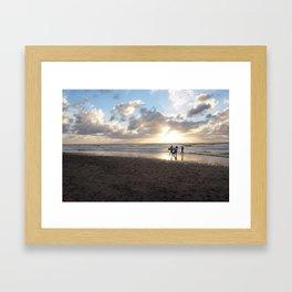 Surf Boys Framed Art Print
