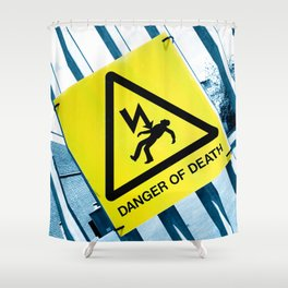 Danger of Death #3 | Press PLAY To Die Shower Curtain