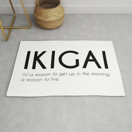 Ikigai - Japanese Beautiful Word Rug